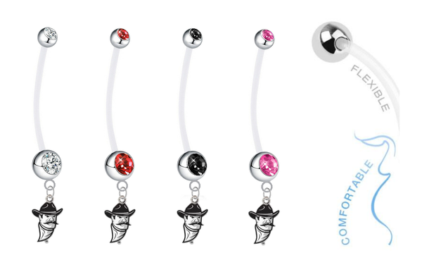 New Mexico State Aggies Pregnancy Maternity Belly Button Navel Ring - Pick Your Color