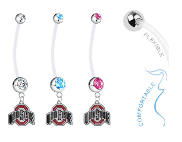 Ohio State Buckeyes Boy/Girl Pregnancy Maternity Belly Button Navel Ring