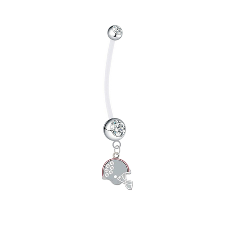 Ohio State Buckeyes Football Helmet Pregnancy Maternity Clear Belly Button Navel Ring - Pick Your Color