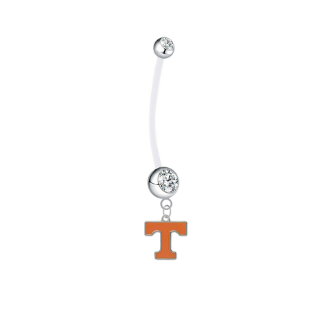 Tennessee Volunteers Pregnancy Maternity Clear Belly Button Navel Ring - Pick Your Color