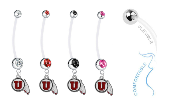 Utah Utes Pregnancy Maternity Belly Button Navel Ring - Pick Your Color