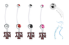 Texas A&M Aggies Pregnancy Maternity Belly Button Navel Ring - Pick Your Color