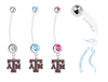 Texas A&M Aggies Boy/Girl Pregnancy Maternity Belly Button Navel Ring