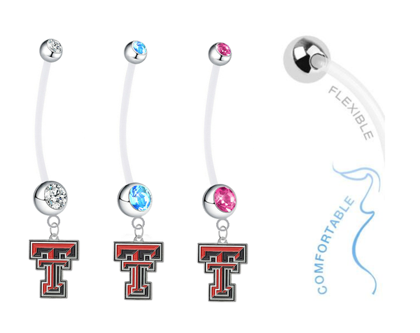 Texas Tech Red Raiders Boy/Girl Pregnancy Maternity Belly Button Navel Ring