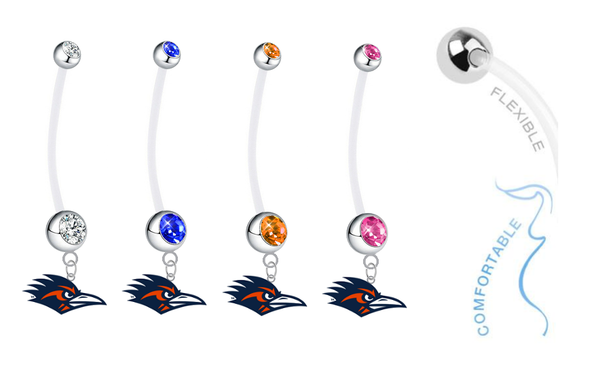 Texas San Antonio Roadrunners Pregnancy Maternity Belly Button Navel Ring - Pick Your Color
