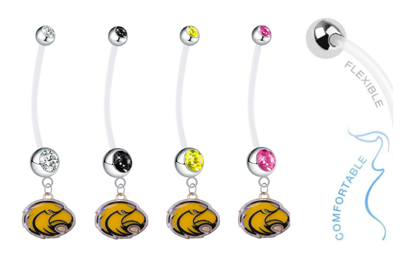 Southern Mississippi Golden Eagles Pregnancy Maternity Belly Button Navel Ring - Pick Your Color