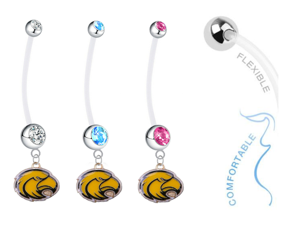 Southern Mississippi Golden Eagles Boy/Girl Pregnancy Maternity Belly Button Navel Ring