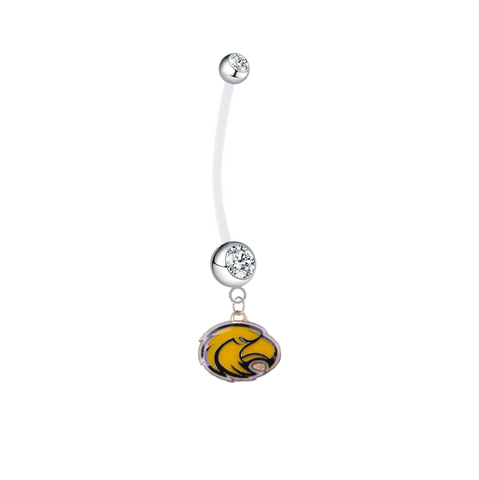 Southern Mississippi Golden Eagles Pregnancy Maternity Clear Belly Button Navel Ring - Pick Your Color