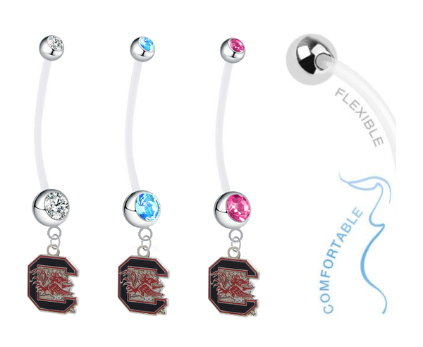 South Carolina Gamecocks Boy/Girl Pregnancy Maternity Belly Button Navel Ring