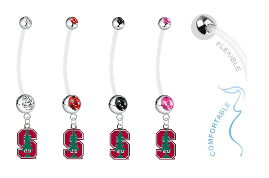 Stanford Cardinal Pregnancy Maternity Belly Button Navel Ring - Pick Your Color