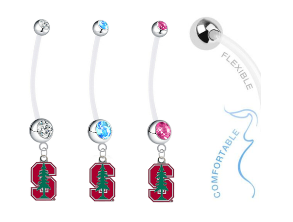 Stanford Cardinal Boy/Girl Pregnancy Maternity Belly Button Navel Ring