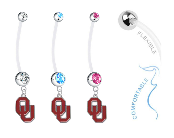 Oklahoma Sooners Boy/Girl Pregnancy Maternity Belly Button Navel Ring