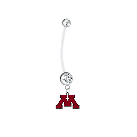 Minnesota Gophers Boy/Girl Clear Pregnancy Maternity Belly Button Navel Ring