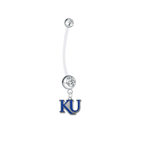 Kansas Jayhawks Style 2 Boy/Girl Clear Pregnancy Maternity Belly Button Navel Ring