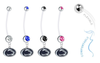 Penn State Nittany Lions Pregnancy Maternity Belly Button Navel Ring - Pick Your Color
