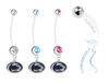 Penn State Nittany Lions Boy/Girl Pregnancy Maternity Belly Button Navel Ring