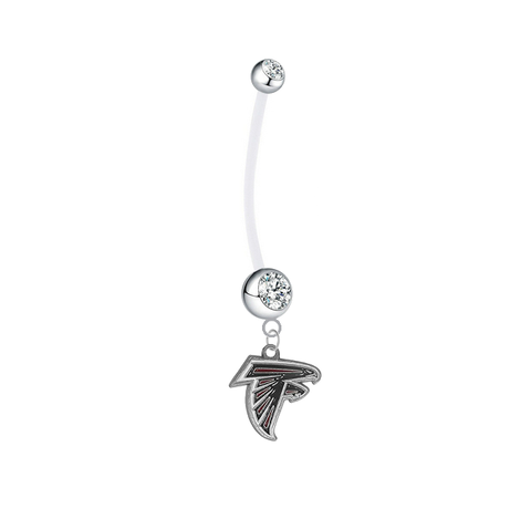 Atlanta Falcons Pregnancy Maternity Clear Belly Button Navel Ring - Pick Your Color