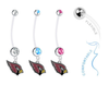 Arizona Cardinals Boy/Girl Pregnancy Maternity Belly Button Navel Ring