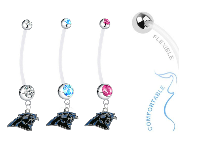Carolina Panthers Boy/Girl Pregnancy Maternity Belly Button Navel Ring