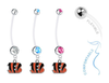 Cincinnati Bengals Boy/Girl Pregnancy Maternity Belly Button Navel Ring