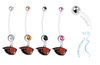 Oregon State Beavers Pregnancy Maternity Belly Button Navel Ring - Pick Your Color