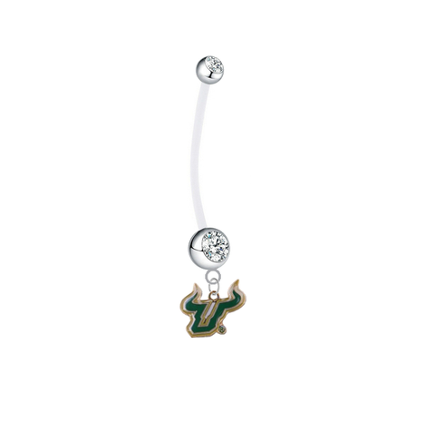 South Florida Bulls Boy/Girl Clear Pregnancy Maternity Belly Button Navel Ring