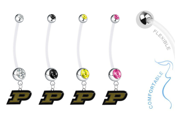 Purdue Boilermakers Pregnancy Maternity Belly Button Navel Ring - Pick Your Color