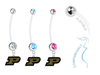Purdue Boilermakers Boy/Girl Pregnancy Maternity Belly Button Navel Ring