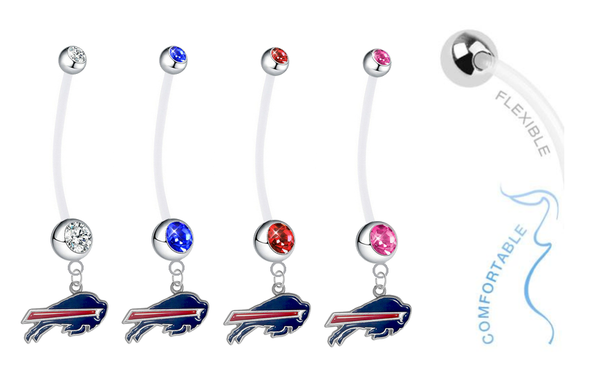 Buffalo Bills Pregnancy Maternity Belly Button Navel Ring - Pick Your Color