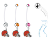Cleveland Browns Pregnancy Maternity Belly Button Navel Ring - Pick Your Color