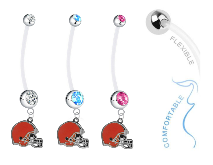 Cleveland Browns Boy/Girl Pregnancy Maternity Belly Button Navel Ring