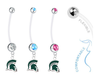 Michigan State Spartans Mascot Boy/Girl Pregnancy Maternity Belly Button Navel Ring