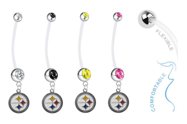 Pittsburgh Steelers Pregnancy Maternity Belly Button Navel Ring - Pick Your Color