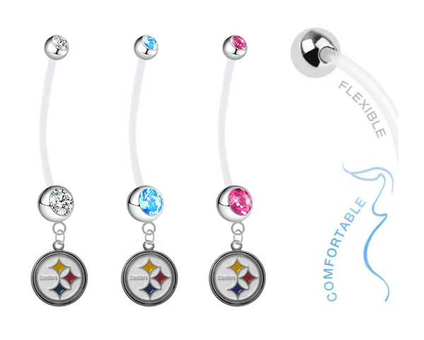 Pittsburgh Steelers Boy/Girl Pregnancy Maternity Belly Button Navel Ring