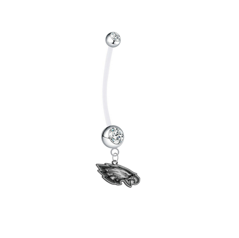 Philadelphia Eagles Pregnancy Clear Maternity Belly Button Navel Ring - Pick Your Color