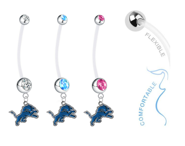 Detroit Lions Boy/Girl Pregnancy Maternity Belly Button Navel Ring