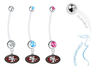 San Francisco 49ers Boy/Girl Pregnancy Maternity Belly Button Navel Ring