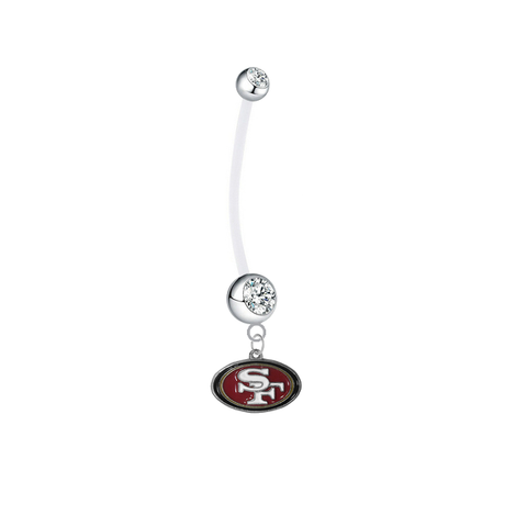 San Francisco 49ers Boy/Girl Clear Pregnancy Maternity Belly Button Navel Ring