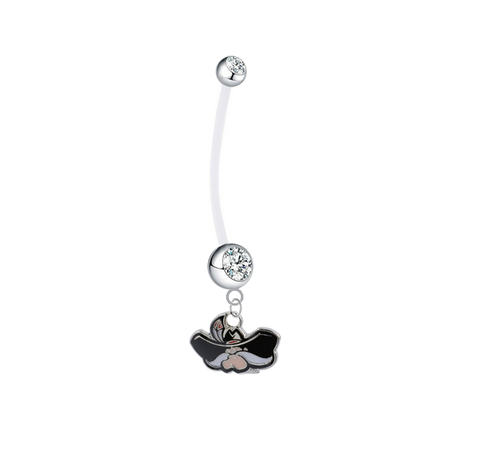 UNLV Runnin Rebels Pregnancy Maternity Clear Belly Button Navel Ring - Pick Your Color