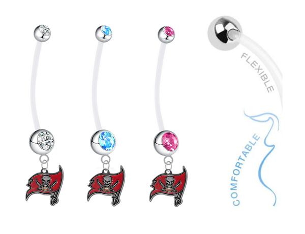 Tampa Bay Buccaneers Boy/Girl Pregnancy Maternity Belly Button Navel Ring