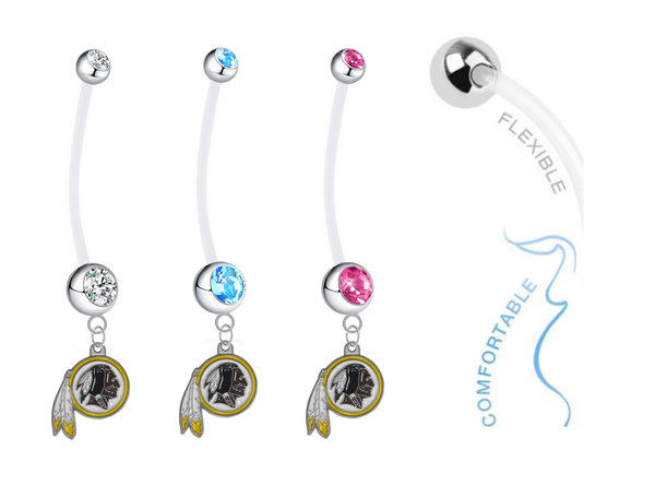Washington Redskins Boy/Girl Pregnancy Maternity Belly Button Navel Ring
