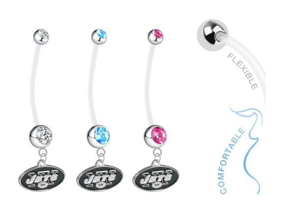 New York Jets Boy/Girl Pregnancy Maternity Belly Button Navel Ring
