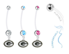 Green Bay Packers Boy/Girl Pregnancy Maternity Belly Button Navel Ring
