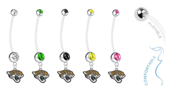 Jacksonville Jaguars Pregnancy Maternity Belly Button Navel Ring - Pick Your Color