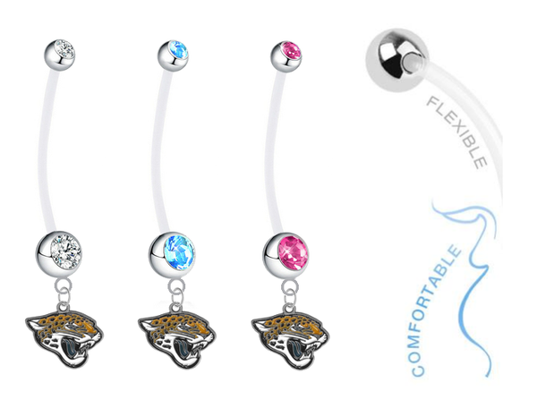 Jacksonville Jaguars Boy/Girl Pregnancy Maternity Belly Button Navel Ring