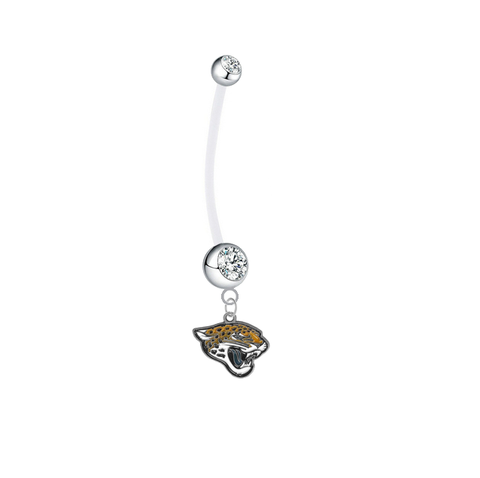 Jacksonville Jaguars Pregnancy Maternity Clear Belly Button Navel Ring - Pick Your Color