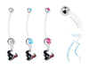 Houston Texans Boy/Girl Pregnancy Maternity Belly Button Navel Ring