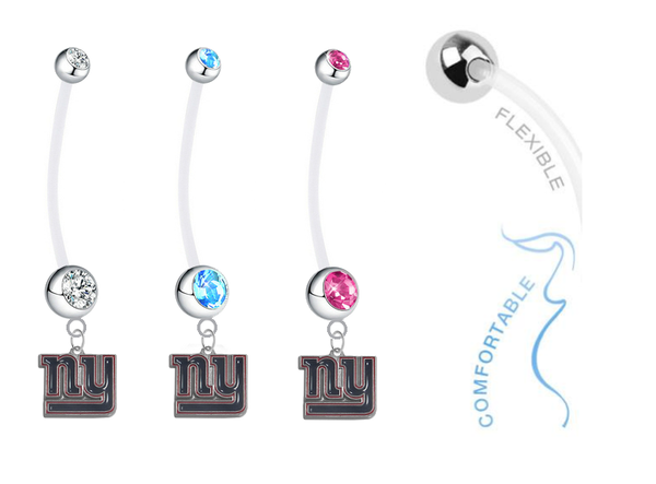 New York Giants Boy/Girl Pregnancy Maternity Belly Button Navel Ring