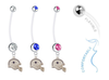 Dallas Cowboys Helmet Pregnancy Maternity Belly Button Navel Ring - Pick Your Color