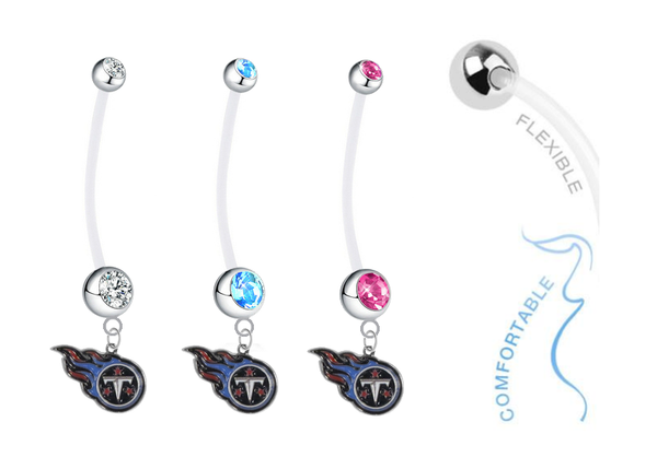 Tennessee Titans Boy/Girl Pregnancy Maternity Belly Button Navel Ring